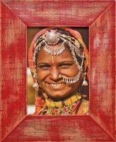 Henzo India Fotolijst - Fotomaat 10x15 cm Rood