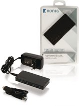 Konig 4-poorts USB hub met voeding - USB3.0