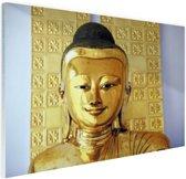 Gouden Boeddha beeld Glas 60x40 cm - Foto print op Glas (Plexiglas wanddecoratie)