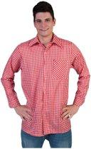Rode geruite blouse voor heren 48-50 (s/m)