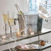 LOBERON Champagnekoeler Alfred zilverkleurig