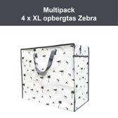 4 x Opbergtas - Big Shopper Zebra Multipack