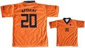Nederlands T-shirt Afellay Oranje Junior Maat 98