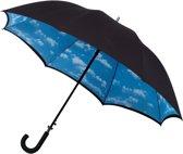 Impliva Dubbeldoeks Paraplu - Wolken
