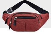 Pure kleur multifunctionele casual zakken waterdichte borst tas taille sport tas (rood)
