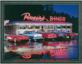 Metalen Retro Bord Rosies Diner