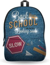 e09ca54a04b Ekuizai LED Schooltas / Rugzak - Back to school -Jeans model