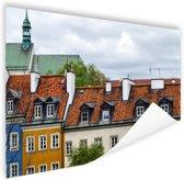 FotoCadeau.nl - Huizen Warschau Poster 60x40 cm - Foto print op Poster (wanddecoratie)