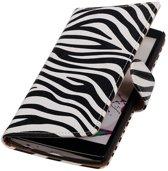 LG G4 Zebra Booktype Wallet Hoesje - Cover Case Hoes