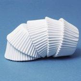 Papieren mini cupcake vormpjes wit, set van 100 - PME Arts&Crafts