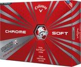 CHROME SOFT TRUVIS GOLF BALLS Black/White