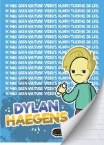 Schrift Dylan Haegens - A4 Gelijnd