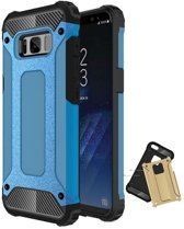 Teleplus Samsung Galaxy S8 Double Layer Tank Cover Case Blue hoesje