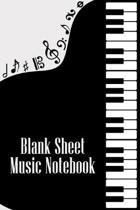 Blank Sheet Music Notebook: DIN-A5 sheet music book with 100 pages of empty staves for composers and music students to note melodies and music