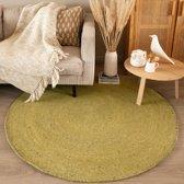 Rond wollen vloerkleed - Wise Groen No. 311 100 cm