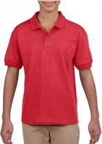 Rode poloshirt voor jongens 134-140 (M)