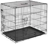 Draadkooi zwart plastic basis 122x74,5x80,5 cm