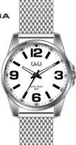 Q&Q mooi heren horloge  Q708J808Y- zilverkleurige band