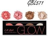 LA Girl Pro Beauty Brick Blush Palette Glow GBL571