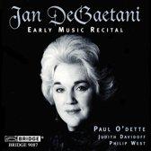 Jan DeGaetani- Early Music Recital / O'Dette, Davidoff, West