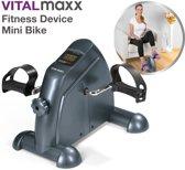 VitalMaxx Fitness Mini Bike Bewegingstrainer Hometrainer Stoelfiets -pedaaltrainer voor thuis/kantoor - fiets simulator - been en armtrainer met trainingscomputer