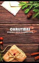 Christmas Monthly Note Planner 2019 1 Year Calendar