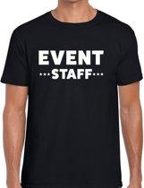 Event staff tekst t-shirt zwart heren - evenementen crew / personeel shirt XL