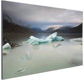 Tasman meer Nieuw-Zeeland Aluminium 90x60 cm - Foto print op Aluminium (metaal wanddecoratie) / Zee en Strand