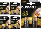 20 Stuks (5 Blisters a 4st) - Duracell Basic LR03 / AAA / R03 / MN 2400 1.5V alkaline batterij