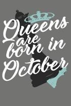 Queens Are Born in October - Birthday Month Journals