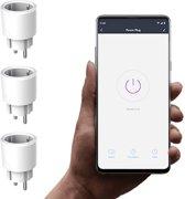 Slimme Stekker Smart Plug Voordeelpakket (3 stuks) voor Smartphone, Echo (Alexa) van Amazon, Google Home en IFTTT.