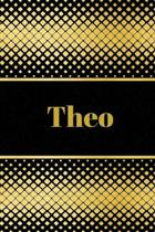 Theo: Personalized Journal to write in Positive Thoughts, Work Ideas, Business for Men, Entrepreneurs gifts holidays
