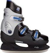 Nijdam 0089 Ijshockeyschaats - Hardboot - Maat 45 - Zwart/Blauw