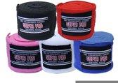 Super Pro Nylon Rigid Hand Wraps-Rood