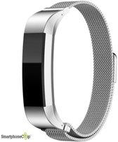 SmartphoneClip Milanees bandje - Fitbit Alta (HR) - zilver