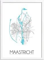 DesignClaud Maastricht Plattegrond poster A3 + Fotolijst wit