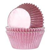 House of Marie MINI Cupcake Vormpjes Folie Baby Roze pk/36