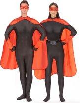 Rode superheld set voor volwassenen - Verkleedattribuut