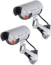 Grundig Beveiligingscamera Dummy Met LED Zilver - 2 Stuks