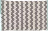 Vloerkleed - zigzag blue - 160x230 - wit grijs blauw