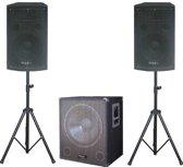 Ibiza Sound CUBE1512 2.1kanalen 800W Zwart luidspreker set