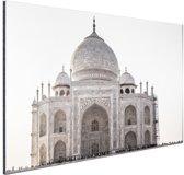 Taj Mahal India Aluminium 120x80 cm - Foto print op Aluminium (metaal wanddecoratie)