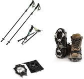 OUTAD Outdoor Antislip Trekking Skistokken En Climbing Claws Chain (Preferentiële Buitencombinatie)