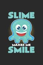 Slime smile: 6x9 Slime - dotgrid - dot grid paper - notebook - notes