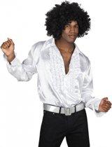 Voordelige witte rouche blouse M