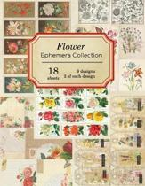 Flower Ephemera Collection: 18 sheets - over 200 vintage Ephemera pieces for DIY cards, journals and other paper crafts