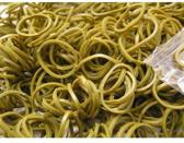 Weefstiekjes olijfgroen - 600 stuks + 24 clips