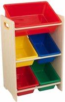 KidKraft Speelgoed opbergmeubel 5 bakken bruin 42.6x29.9x74.3 cm 15472