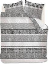 Rivièra Maison Primrose Hill - Dekbedovertrek - Lits-jumeaux - 240x200/220 cm - Zwart