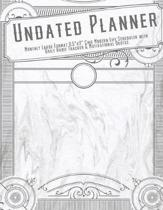 Undated Planner Monthly Large Format 8.5x11 Chic Modern Life Scheduler